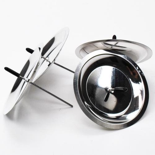 kerzenhalter zum stecken in silber 8cm 4stk 0 82 stk. Black Bedroom Furniture Sets. Home Design Ideas