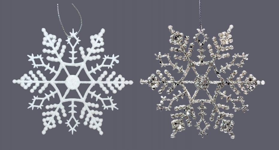 schneesterne in wei oder silber 10cm 0 000429 deko eiskristalle weihnachten ebay. Black Bedroom Furniture Sets. Home Design Ideas